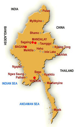 Myanmar small map